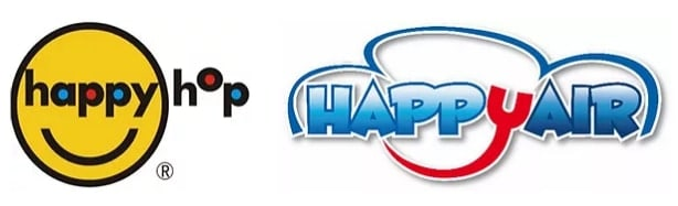 Logo Happy Hop e Happy Air - ditte gonfiabili per bambini